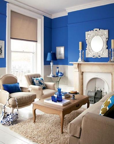 Wohnzimmer Blau  Ideen fr ein schnes Wohnzimmer  fresHouse