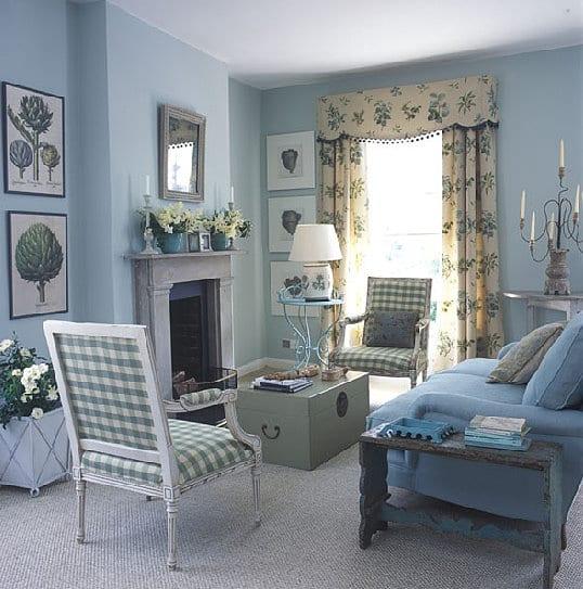 Wohnzimmer Blau Streichen
