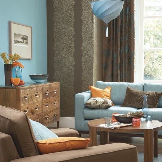 Wohnzimmer Braun  Wohnzimmer Inspirationen der braunen Farbpalette  fresHouse