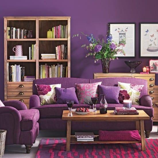 Wandfarbe Gestalten: Wohnzimmer Lila Gestalten: 79 Tolle