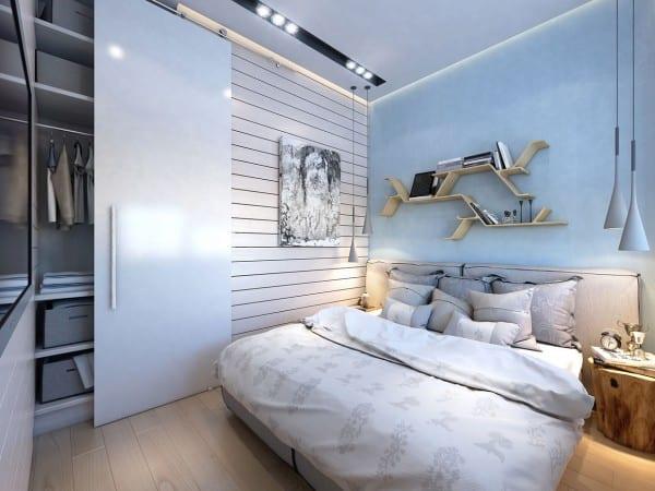 extrem kleine Zweiraumwohnung mit schickem Interieur Design  fresHouse