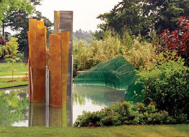 Flachglas fr erstaunliche Garten und Terrassengestaltung mit Skulptur aus Glas  fresHouse