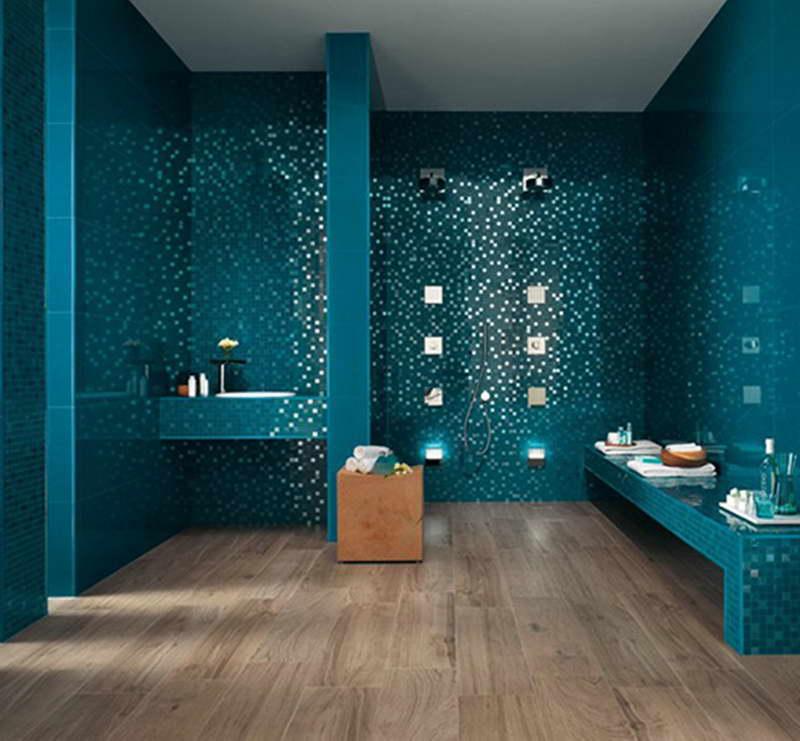 Wand Streichen in Farbpalette der Wandfarbe Blau  fresHouse