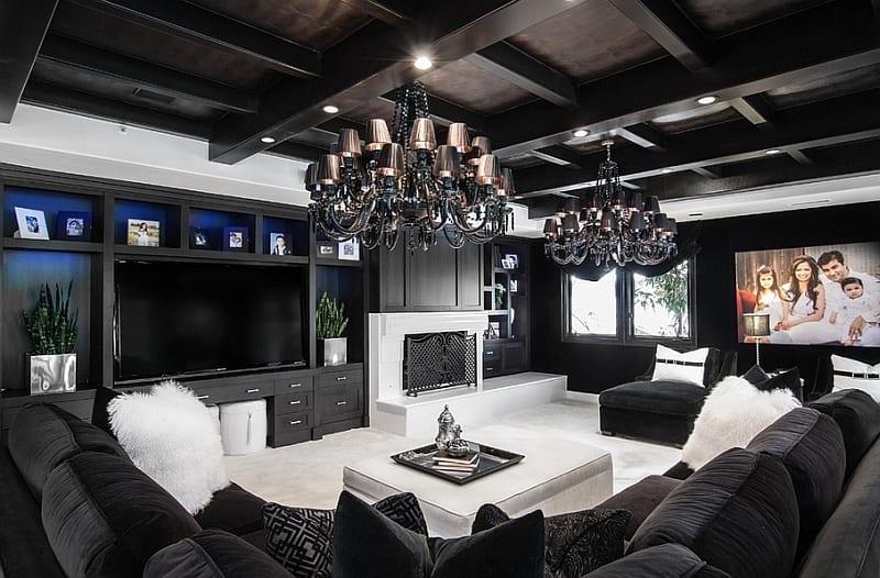 21 fantastische Gestaltungsideen fr schwarzweie Wohnzimmer  fresHouse