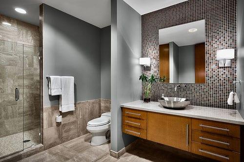 Badezimmer Grau  50 Ideen fr Badezimmergestaltung in