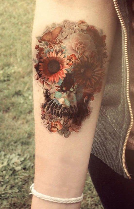 Tattoo Vorlagen Blumen Bein