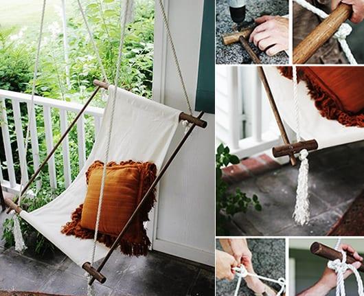 Gartendeko Ideen mit Hngesessel und Hngematte  fresHouse