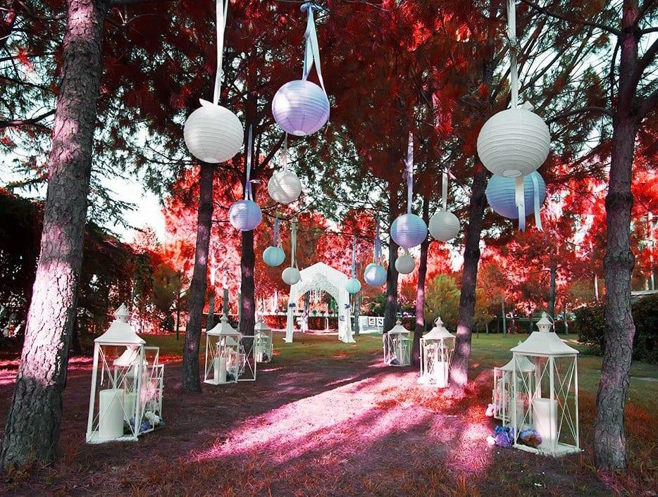 Deko Hochzeit Gartenparty