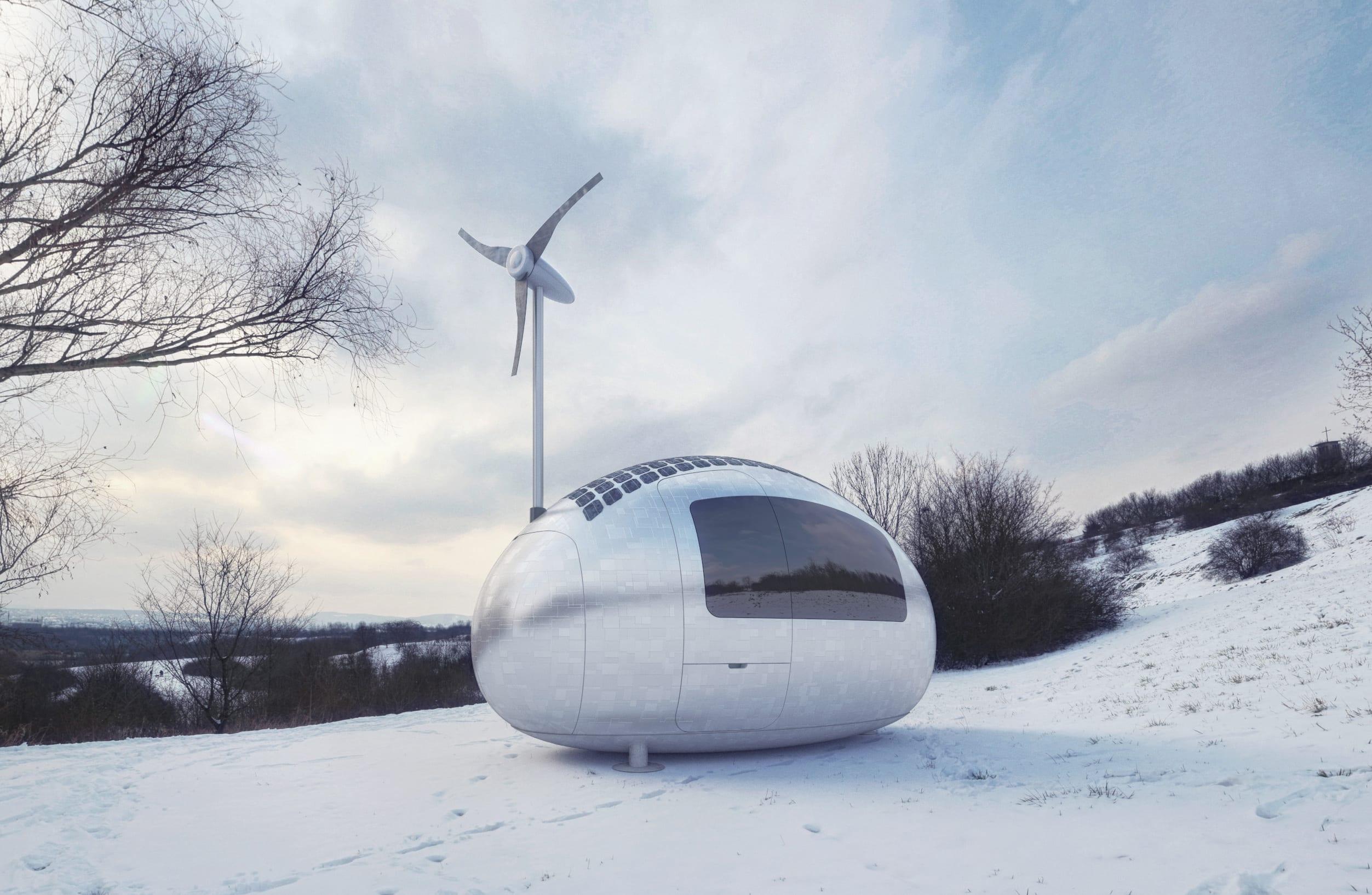 Wohnmobil Ecocapsule  das mobile Niedrigenergiehaus