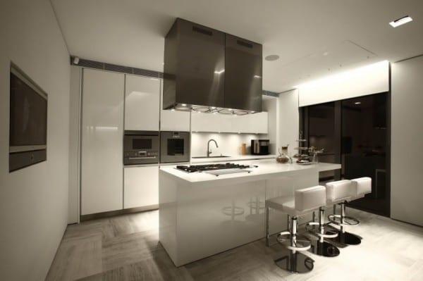 interior design fr moderne kche wei mit kochinsel wei