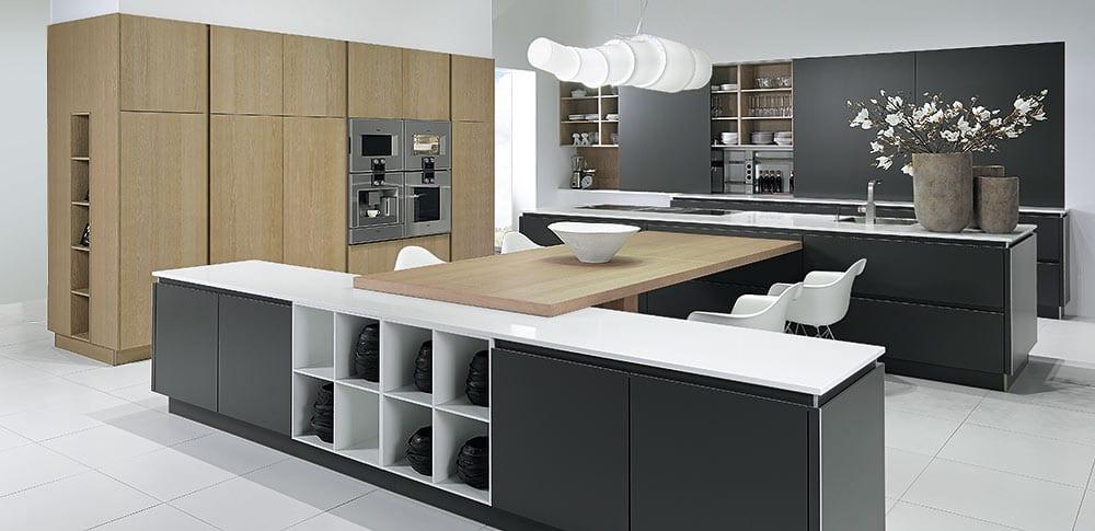 tisch kleine kuche architektur tisch | designmore - Kche Mit Kochinsel Und Tisch