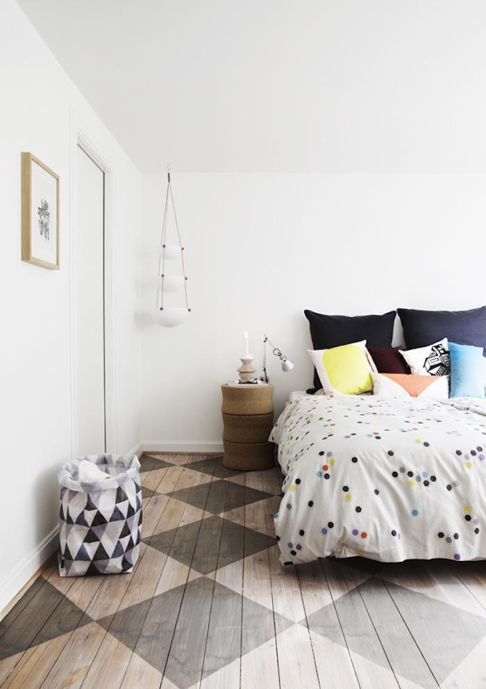 55 kreative Streichen Ideen fr Holzbodenbelag  fresHouse