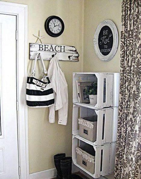 DIY Wandregale aus paletten als coole wohnidee flur  fresHouse