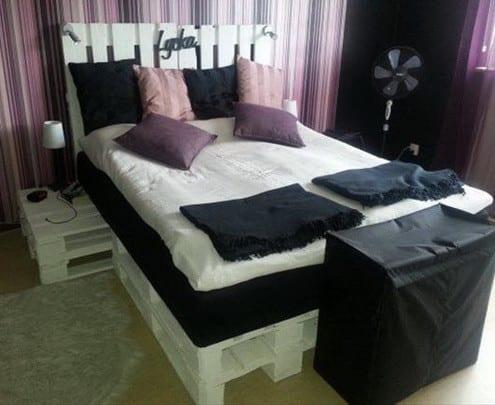 DIY Bett und eigener DesignerNachttisch aus Paletten  fresHouse
