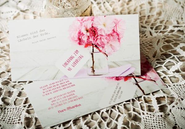 Die Einladung zu einem runden Geburtstag  fresHouse