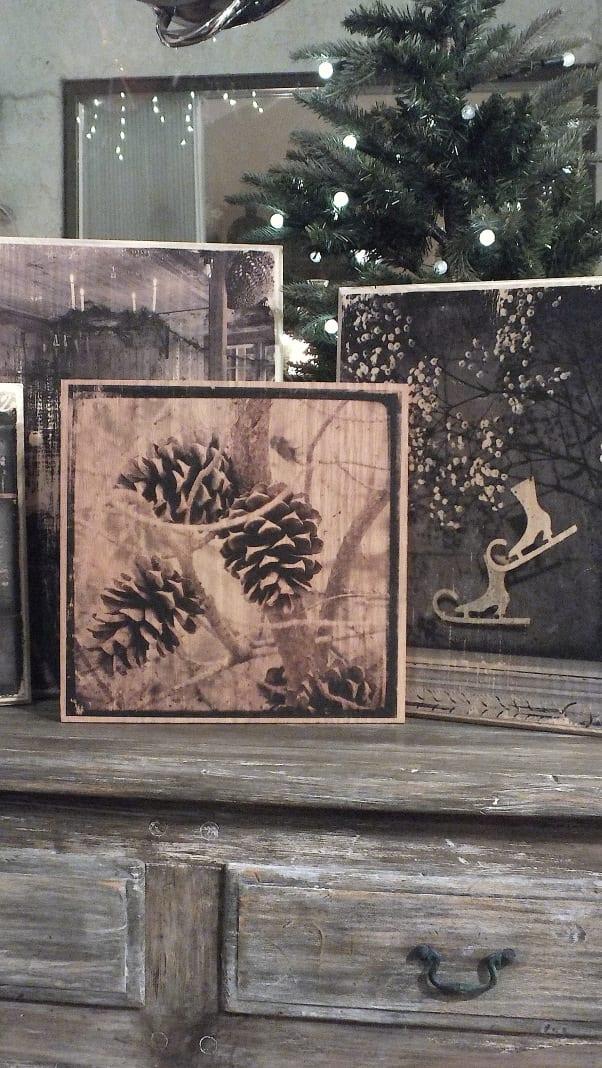 coole Holz Deko mit Druck auf Holz  fresHouse