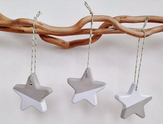weihnachtssterne basteln aus beton als coole dekoidee weihnachten, Gartenarbeit ideen