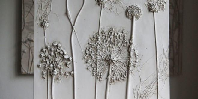 bastelnideenmitgipsalsGeschenkideeundfrDIYdekomitblumenfosillen  fresHouse