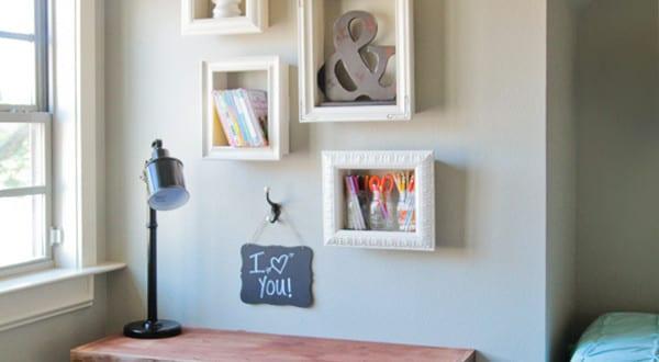 Wand gestalten mit DIY Deko aus Bilder Rahmen  fresHouse