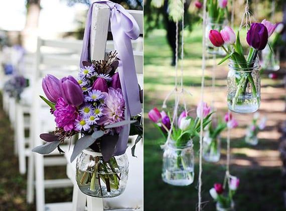 Ideen fr raffinierte Blumendeko Hochzeit mit Tulpen  fresHouse