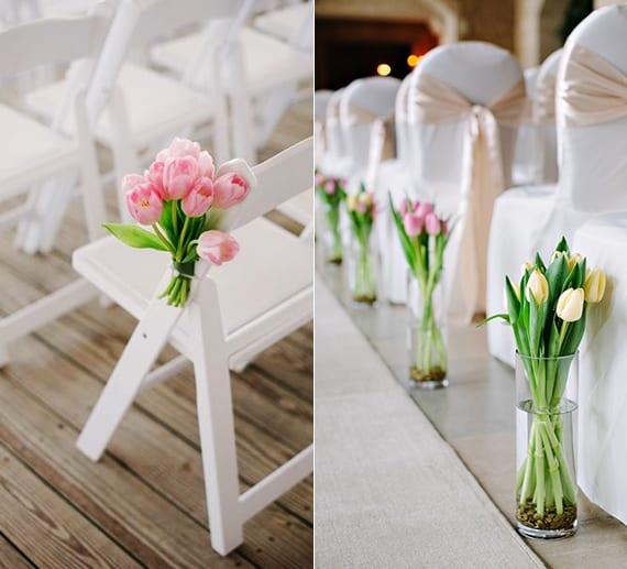 Blumendeko Hochzeit Tulpen