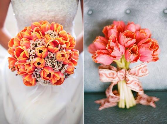 Ideen fr raffinierte Blumendeko Hochzeit mit Tulpen