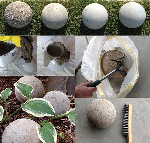 Gartendeko selber machen DIY Gartenkugeln  fresHouse