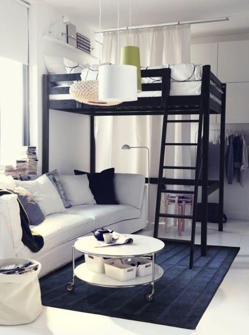 ... Die Kleine Wohnung Einrichten Mit Hochhbett Freshouse