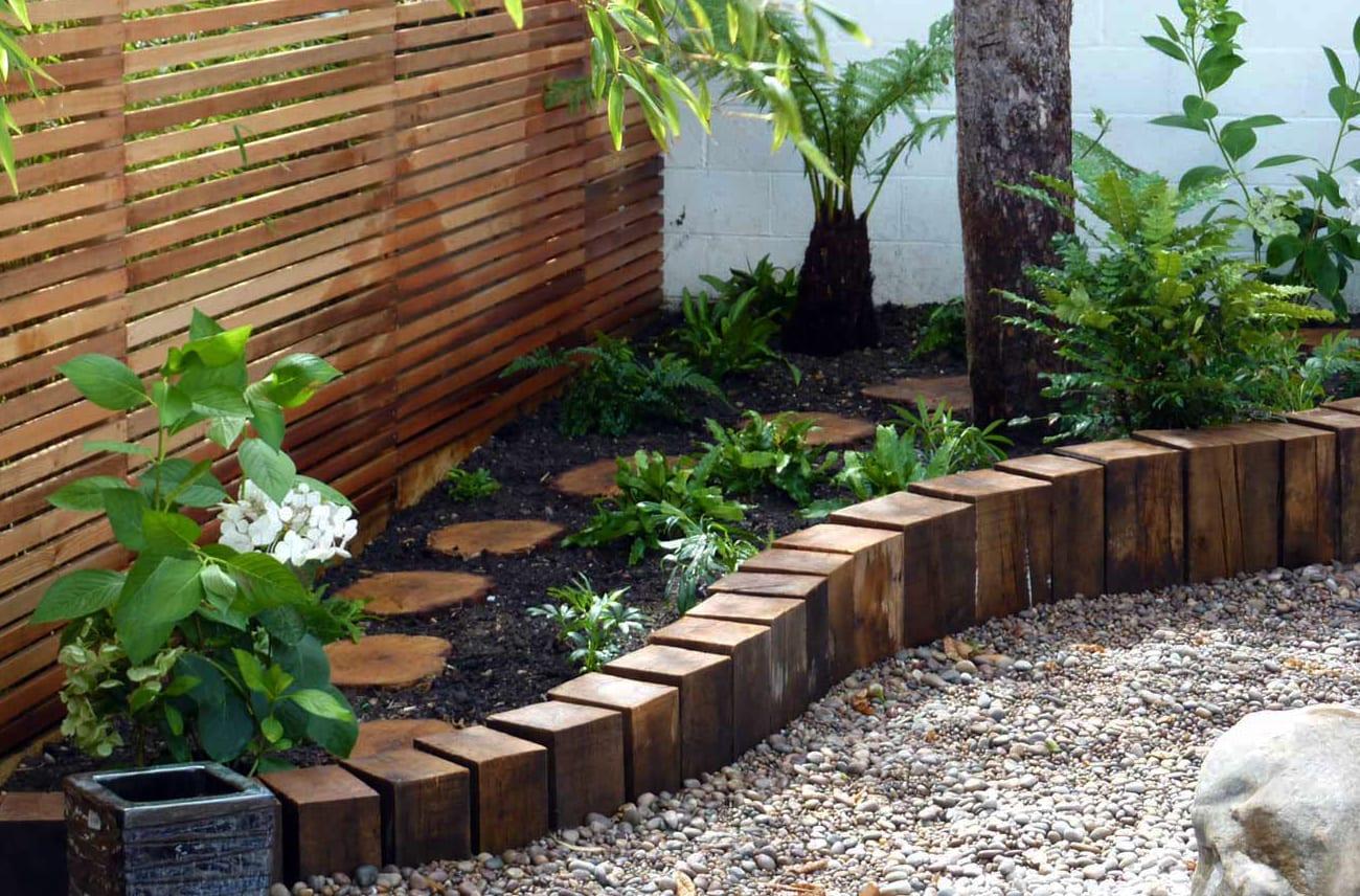 Garten gestalten mit kreativer Rasenkante und Beetumrandung  fresHouse
