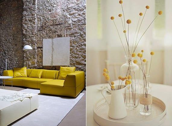 wohnzimmer einrichten gelb » terrasse en bois