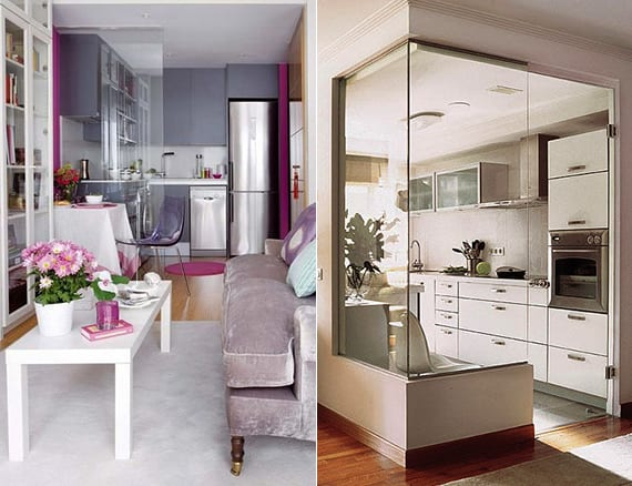 Die komfortable Wohnkche in der kleinen Wohnung  fresHouse