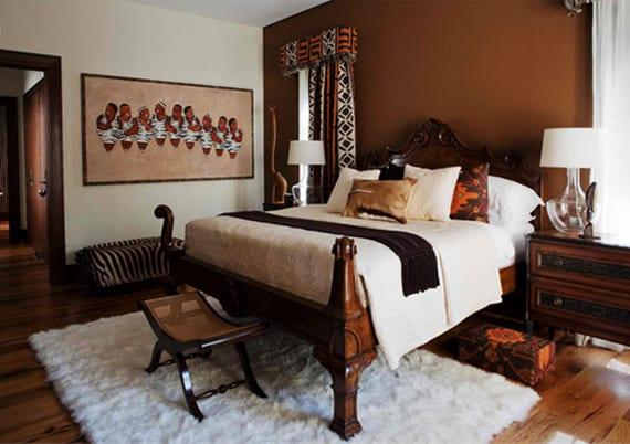 African Interior Design fr eine reizende Schlafzimmergestaltung  fresHouse
