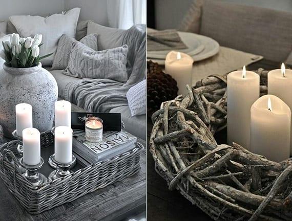 Kerzen Dekoideen fr mehr Romantik in den kalten Wintertagen  fresHouse