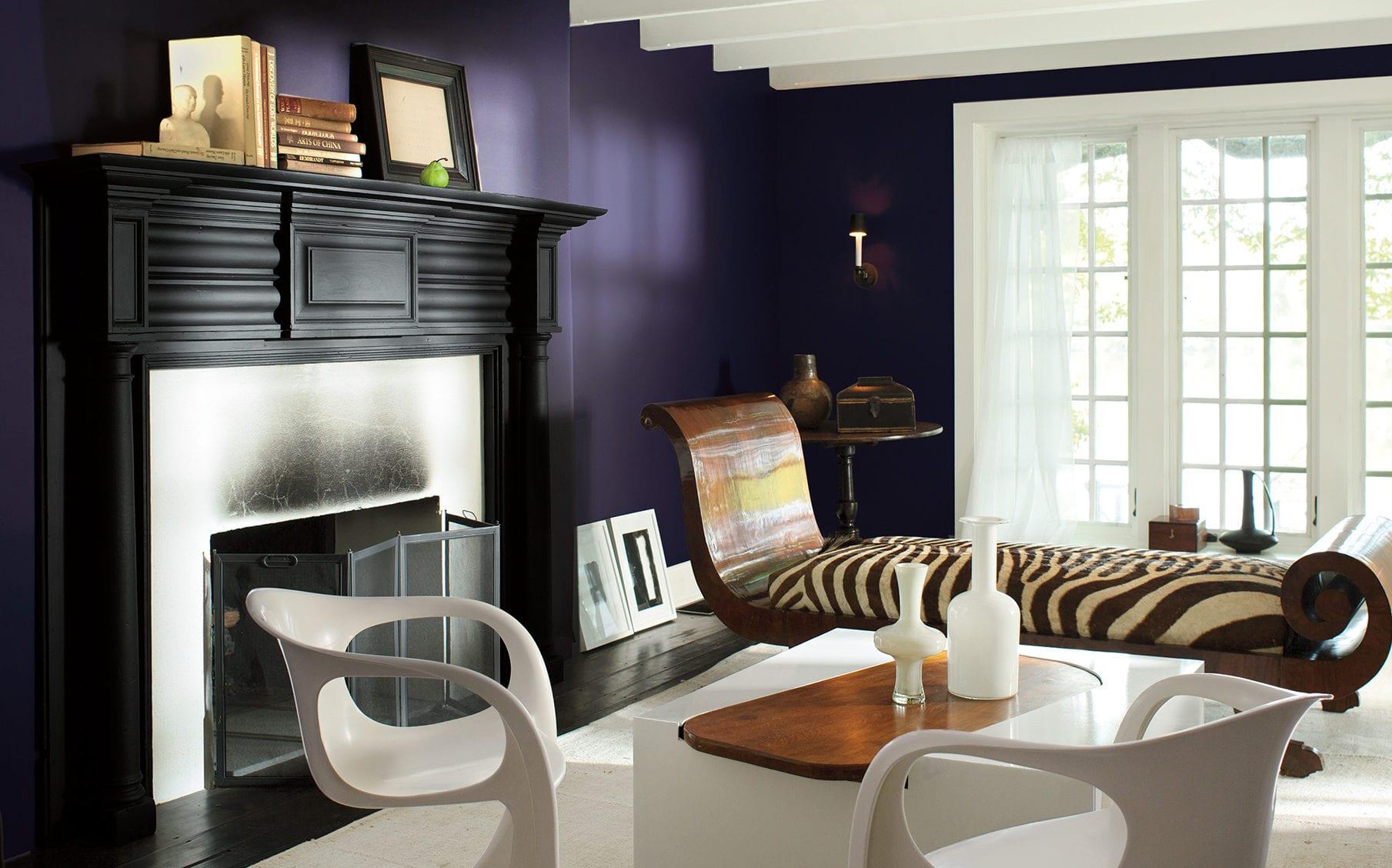 funvit com muster tapete wohnzimmer | designmore - Lila Schwarz Wohnzimmer