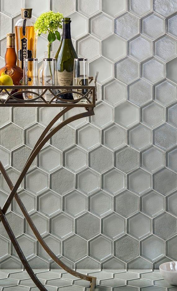 Sechseck Wandmuster Ideen fr eine tolle Wandgestaltung  fresHouse