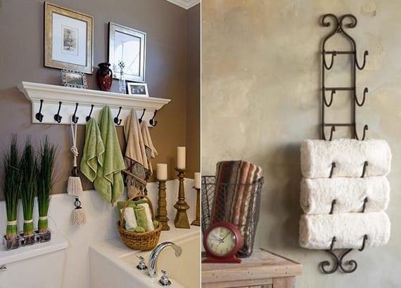 Bad in Ordnung halten Hand und Badetcher organisieren  fresHouse