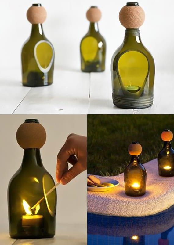 Inspirierende Bastel und Upcycling Ideen mit Weinflaschen  fresHouse