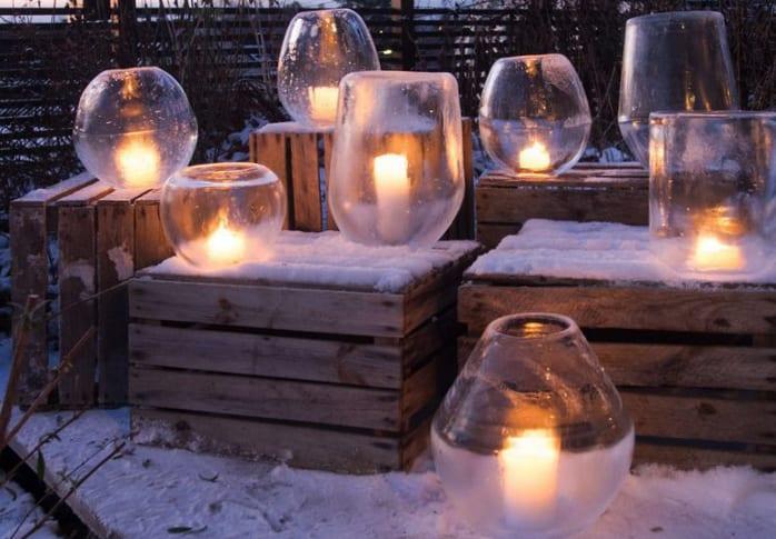 Laterne basteln fr den Garten im Winter  fresHouse