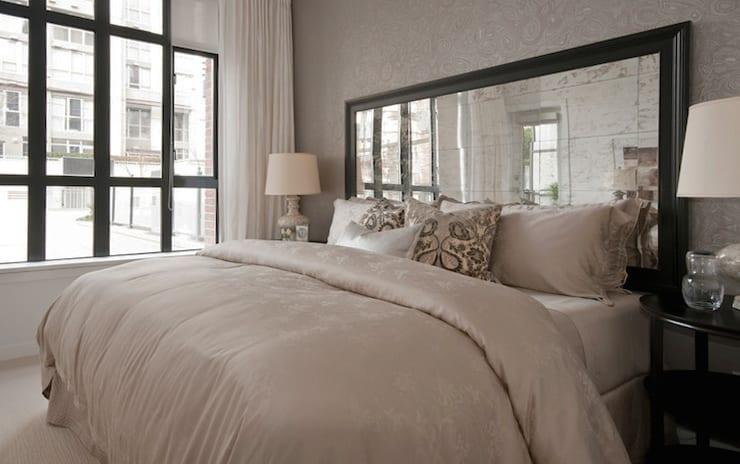 Schlafzimmer gestalten mit SpiegelBettKopfteil  fresHouse