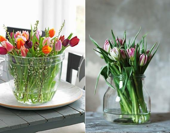 Zarte Frhlingsdeko mit Tulpen fr frische Raumgestaltung