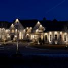 luxury home with amazing lighting