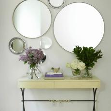 modern circle design for mirror