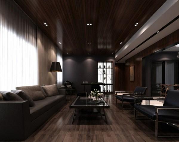 Dark Modern Interior Design Living Room