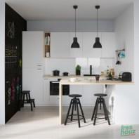 Chic black and white kitchen