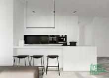 Ultra minimalist black and white kitchen inspiration