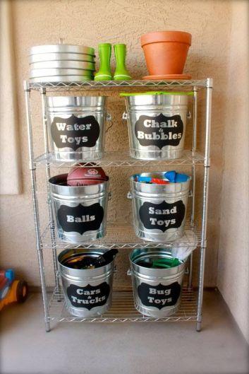 Bucket Outdoor Toy Storage