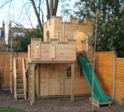 Castle Playhouse With Wobbly Bridge
