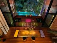 Colorful Balcony Lighting Ideas