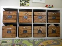 Wooden Crate Toy Storage