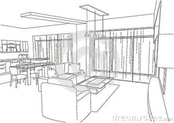 The Most Beautiful Living Room Architecture Sketch / FresHOUZ.com